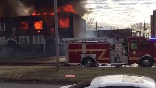 ESL Fire Dept - Apartment Fire on Gray Blvd.  Feb 4, 2017