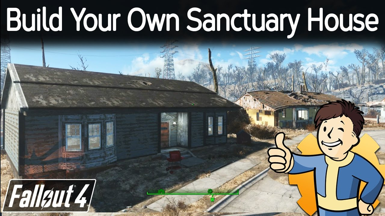 Fallout 4 build your own sanctuary house 123vid for Build my own house