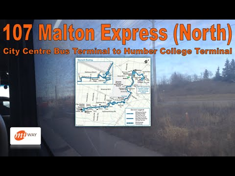 107 Malton Express (North) - MiWay 2012 Orion VII EPA10 1205 (City Centre to Humber College)