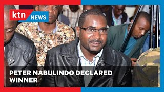 NABULINDO WINS: ANC candidate Peter Nabulindo declared the winner in the Matungu by-elections