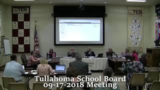 Tullahoma City School Board Meeting 09-17-2018
