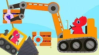 Have Fun Baby Dinosaur, Play And Learn Heavy Machines - Fun Game For Toddlers