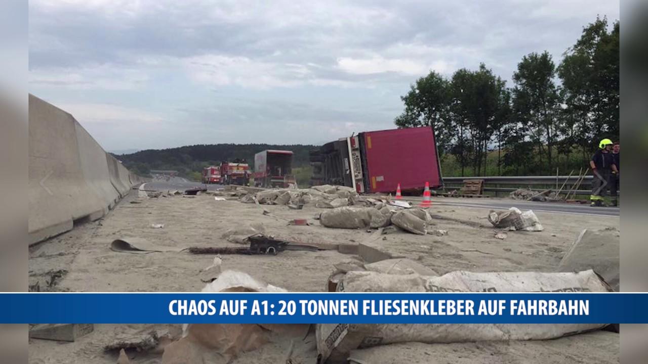 Chaos auf a1 20 tonnen fliesenkleber auf fahrbahn youtube - Fliesenkleber auf bitumenanstrich ...