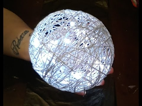 String Ball Light Diy