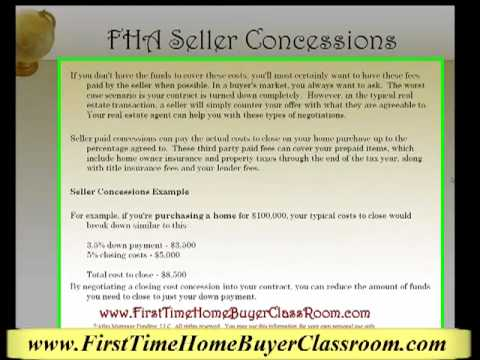 Can I use Seller Concessions with a FHA loan?