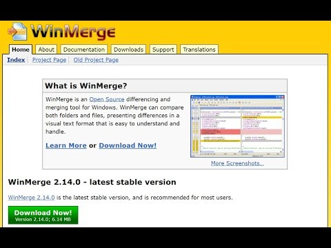 Free open source tool to compare and merge files using WinMerge 2 14