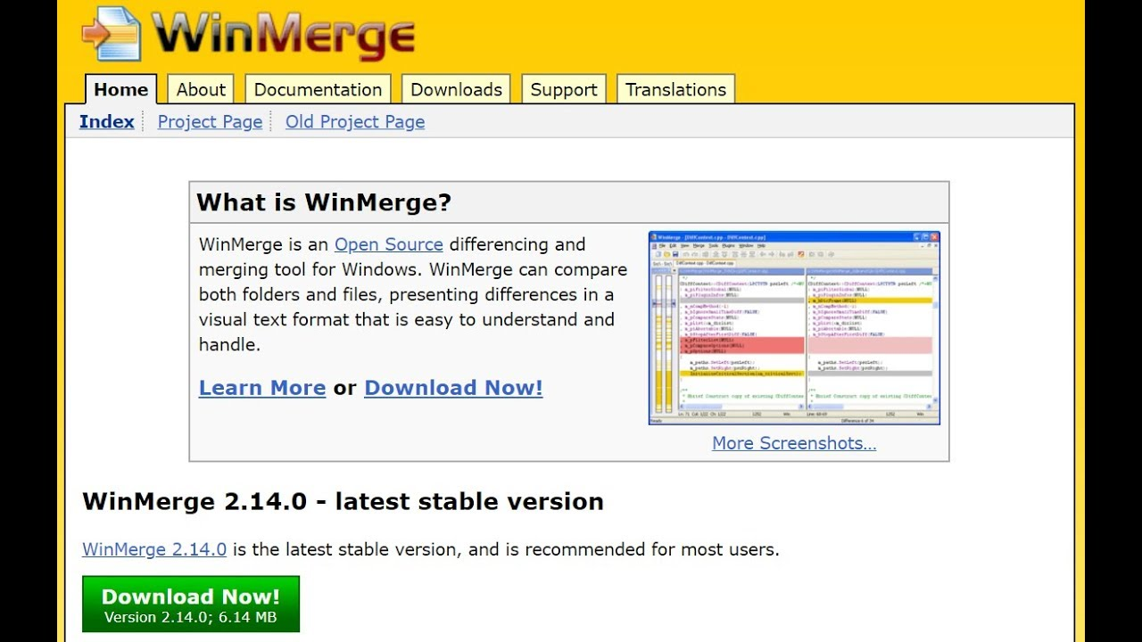 Free open source tool to compare and merge files using WinMerge 2 14 0