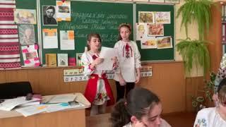 Урок по творчості Ніни Гнатюк у 15-й школі Вінниці - 6-А клас 25.02.19 ч7