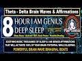 8 Hour Deep Sleep I AM GENIUS Affirmations Brain Waves Music Paul Santisi Guided Meditation