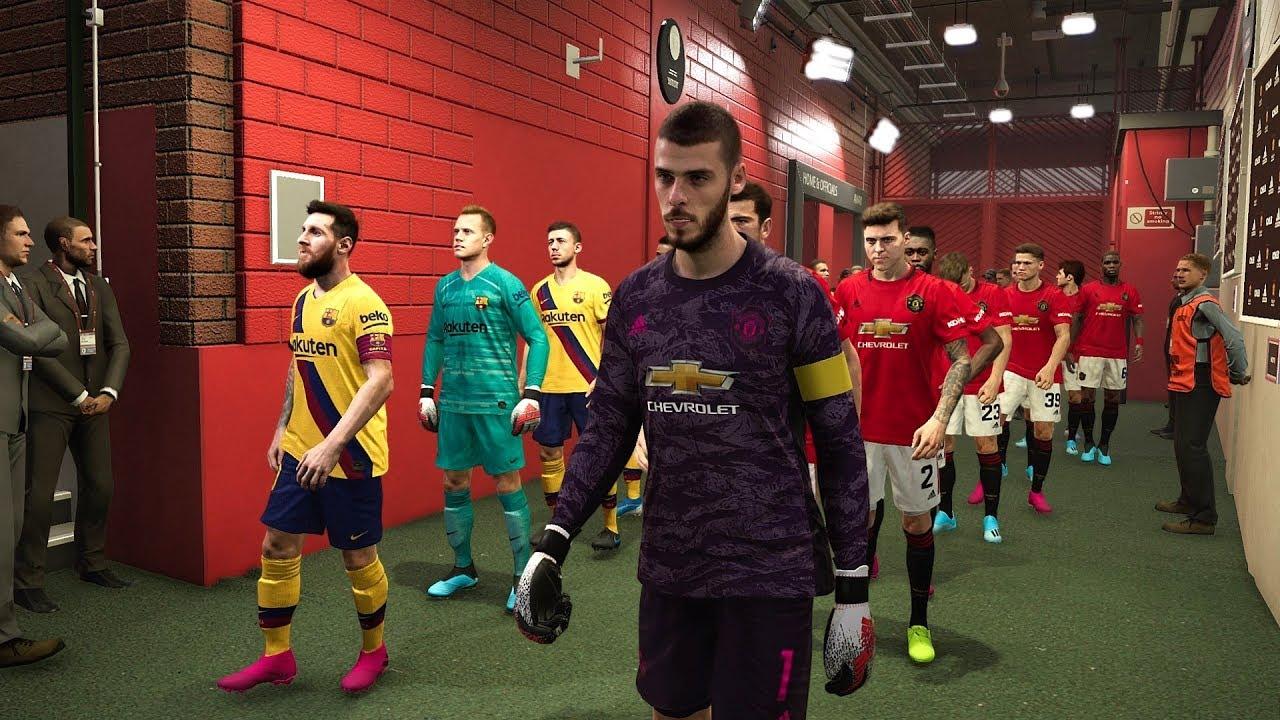 Barcelona vs manchester united 2020