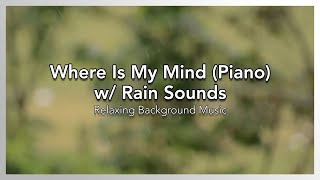 Where Is My Mind (Piano) w/ Rain Sounds - Relaxing Background Music