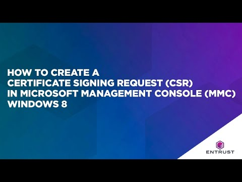How To Create A Certificate Signing Request (CSR) In Microsoft Management Console (MMC) Windows 2012