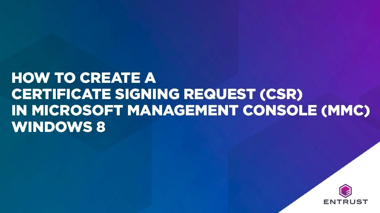 How to create a certificate signing request csr in microsoft how to create a certificate signing request csr in microsoft management console mmc windows 2012 yelopaper Choice Image