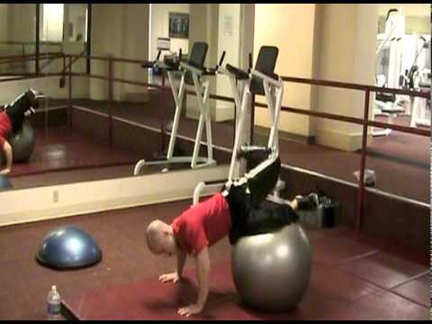 ScorpionTwist on Stability Ball  | Seattle Athletic Club Downtown