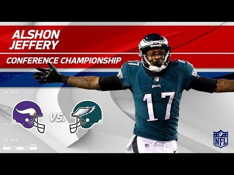 Alshon Jeffery's 2 TD Day vs. Minnesota! | Vikings vs. Eagles | NFC Championship Player HLs