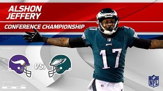 Alshon Jeffery's 2 TD Day vs. Minnesota! | Vikings vs. Eagles | NFC Championship Player HLs