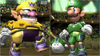 Mario Strikers Charged - Wario vs Luigi - Wii Gameplay (4K60fps)
