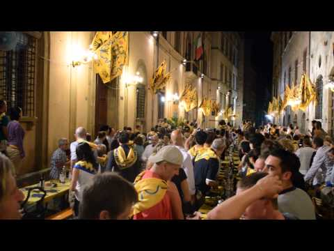 Travel Video - At Contrada Aquila, Siena During Palio di Siena - Italy Travel