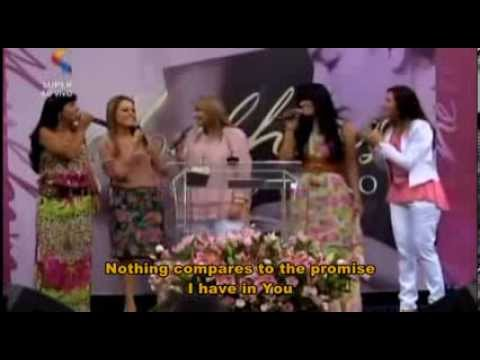 """Leaders Worship from Brazil sing """"Shout to the Lord"""" and pray for Darlene Zschech (with subtitles)"""