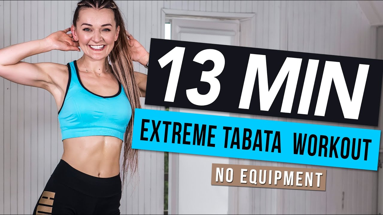 13 MIN EXTREME TABATA WORKOUT | Monika Kolakowska