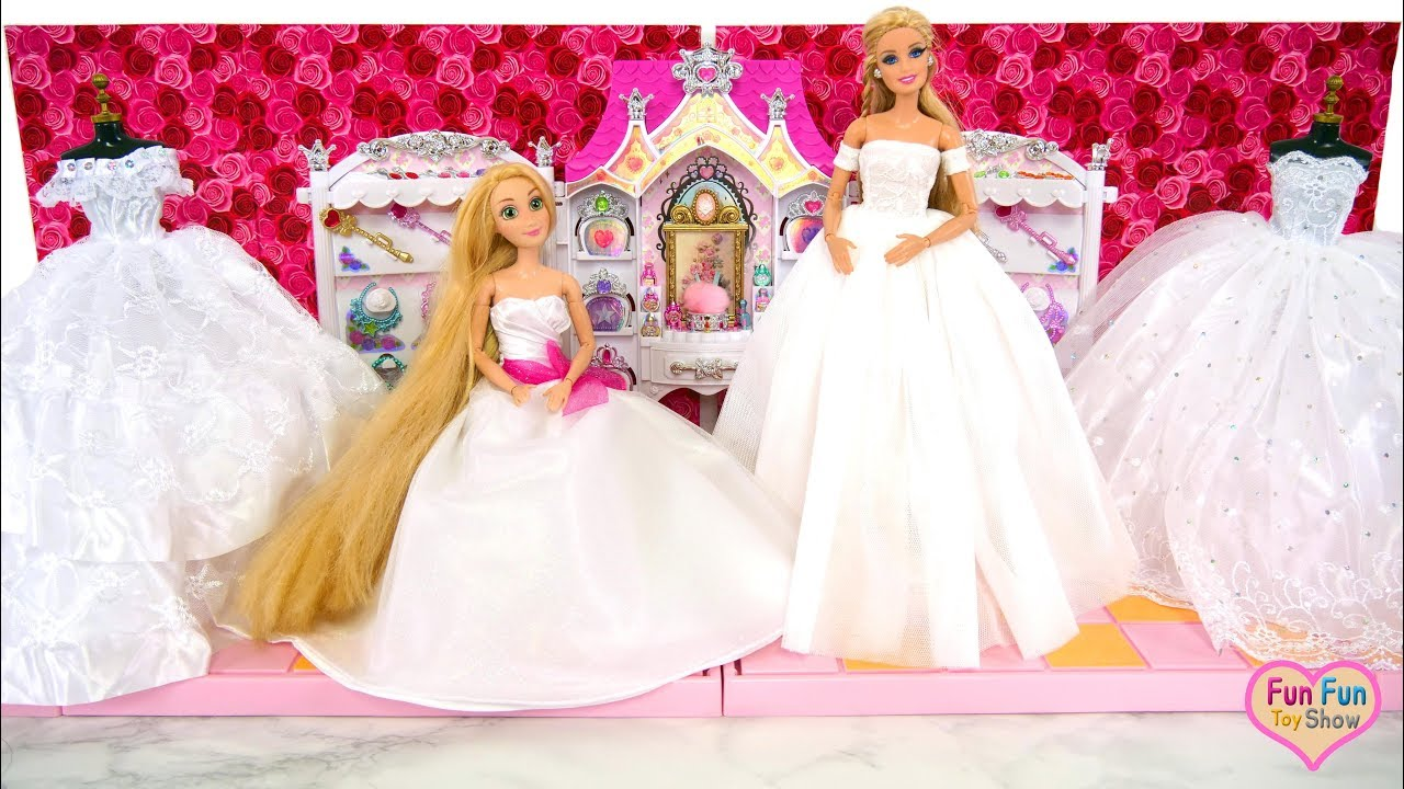 Princess doll Wedding Dress - Barbie Elsa Cinderella Putri gaun pengantin  boneka Vestido de noiva