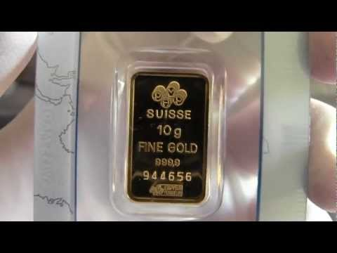 10 Gram PAMP Suisse Gold Bar & Canadian Silver Coins