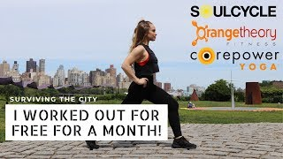 WORK OUT WITH ME | free workout classes nyc
