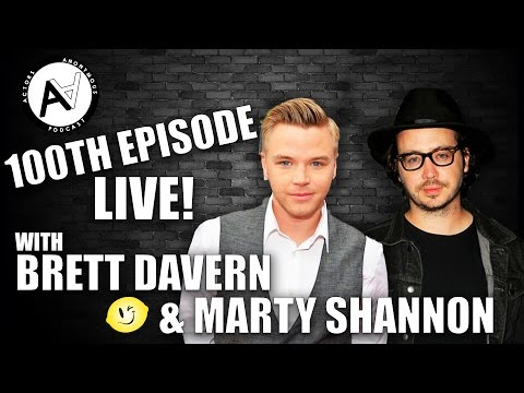 100th Episode LIVE! With Brett Davern & Marty Shannon