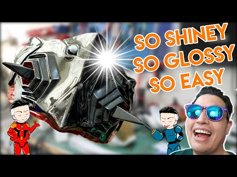 Easy Mirror Like Finish On Your Cosplay Props - 동영상