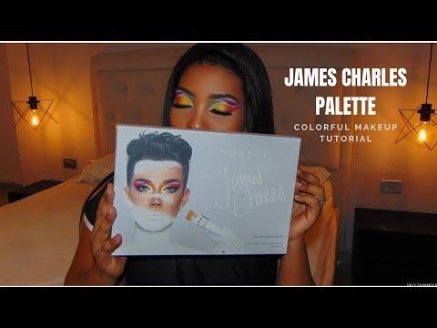 COLORFUL MAKEUP TUTORIAL  Con La CONTROVERTIDA PALETA DE JAMES CHARLES thumbnail