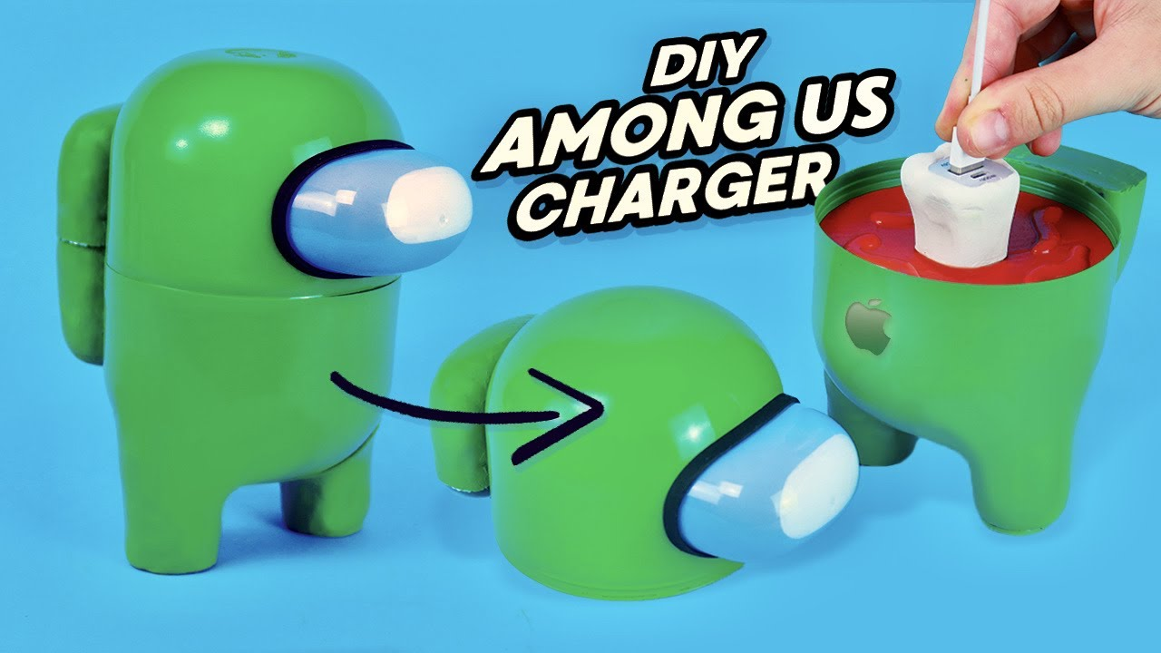 DIY AMONG US CHARGER for iPhone - Tutorial