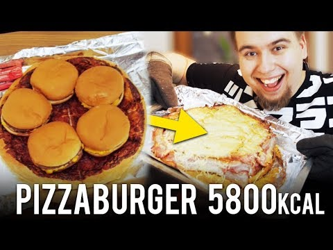 NAJWIĘKSZY TORT HAMBURGEROWY 5800 KALORII!