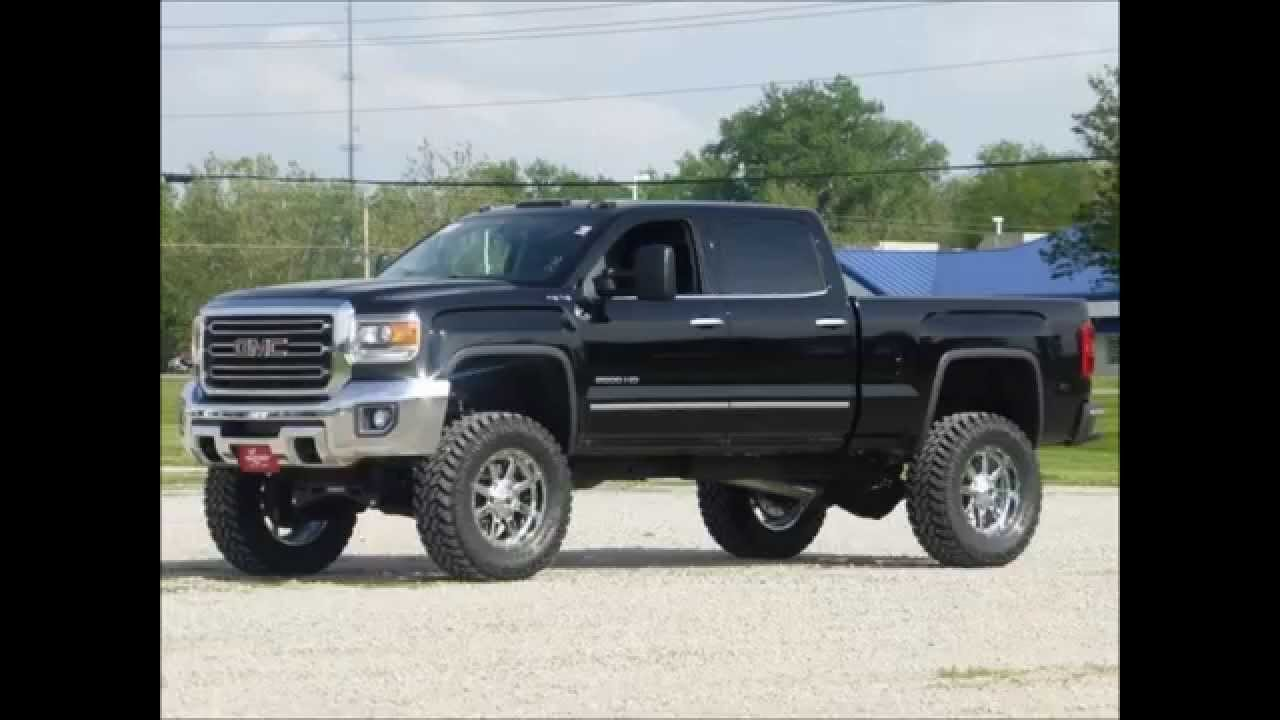 2015 Gmc Sierra 2500hd Diesel Crew Cab 4wd Slt Lifted