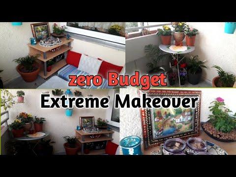 Extreme Balcony Makeover | My Balcony got new look l TRANSFORMATION ( zero Budget ) | Small rental