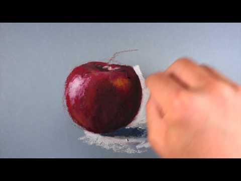 oil-pastel-lesson---apple