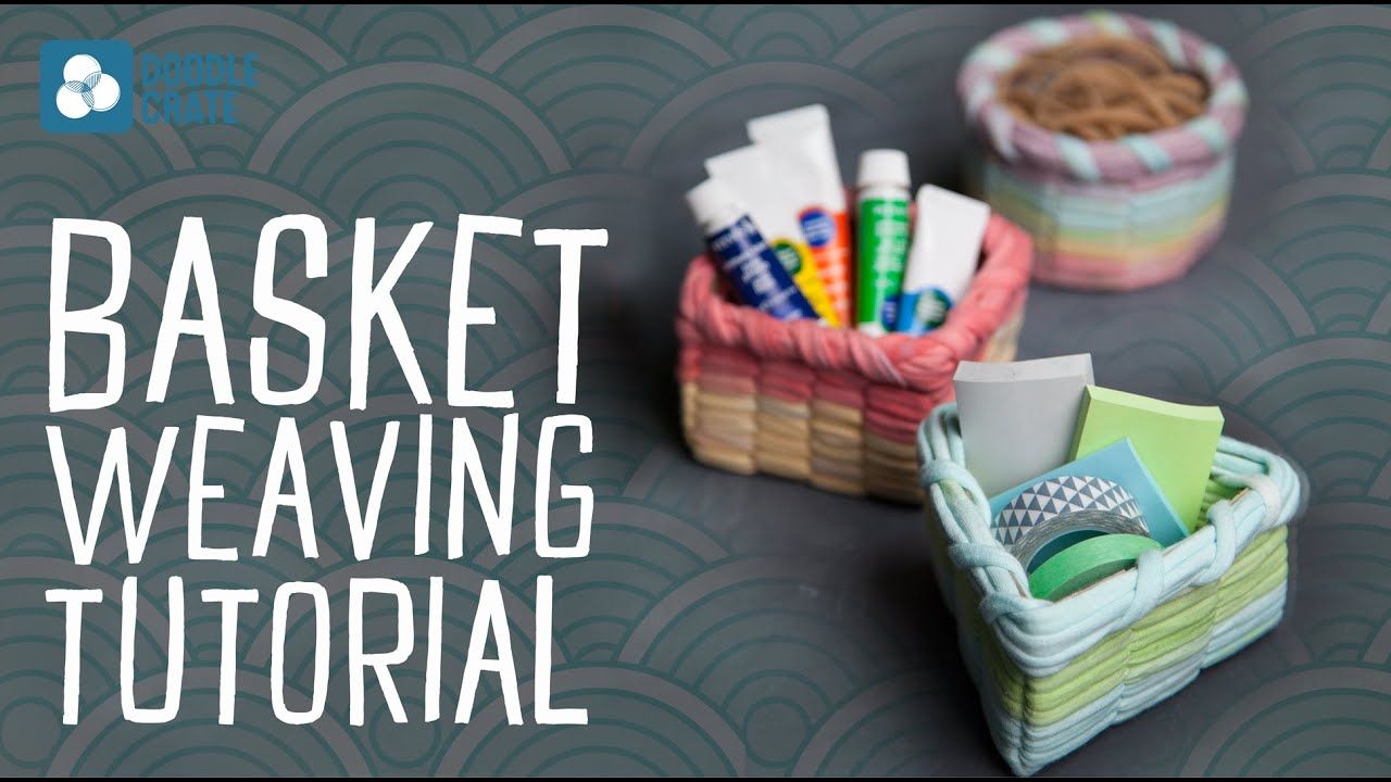 How To Make A Woven Yarn Basket : Basket weaving with t shirt yarn