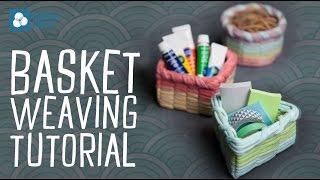 Basket Weaving with T-Shirt Yarn