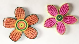 How to make the petal of a flower using hair comb! Quilling comb tutorial