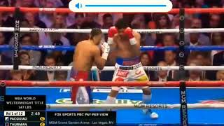 MANNY PACQUIAO VS. KEITH THURMAN (Full Fight Highlights) HD