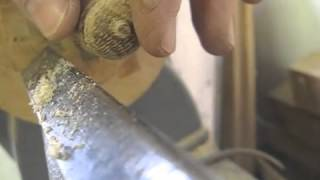 Turning An Acorn For A Zeeland Cabinet - Thomas Johnson Antique Furniture Restoration