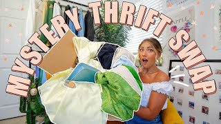MYSTERY THRIFT SWAP | huge SUMMER thrift store try on haul (definitely my BEST haul!!)
