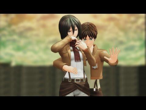 "MMD SNK ""What The Heck No Jutsu!"" Eren Mikasa Levi Jean Marco Attack On Titan Funny AOT Meme Anime"