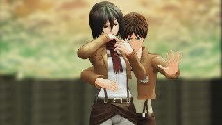 "MMD SNK ""What the Heck No Jutsu!"" Attack On Titan funny AOT meme Eren Mikasa Levi Jean Marco"