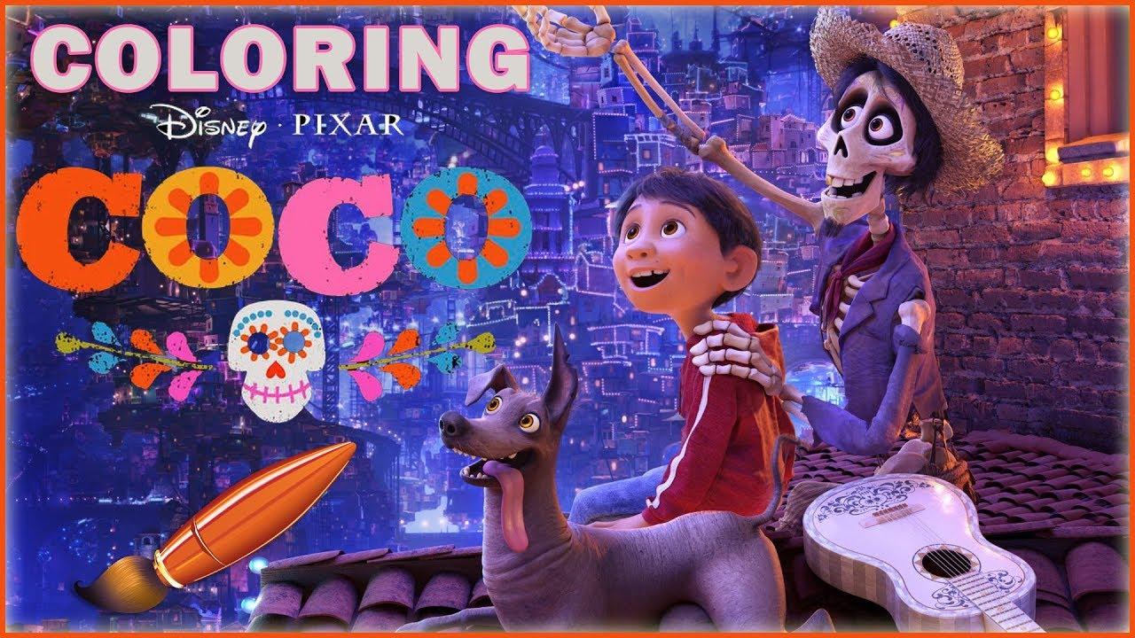 Disney Pixar Coco Coloring Dante Miguel Amp Hector Kids