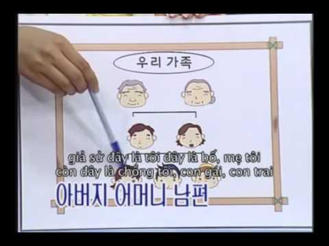 Tieng Han So Cap   Bai 02   Gioi Thieu Ve Gia Dinh   YouTube