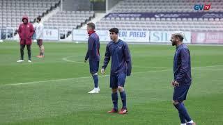 André Simões e Miguel Monteiro treinaram com a equipa principal