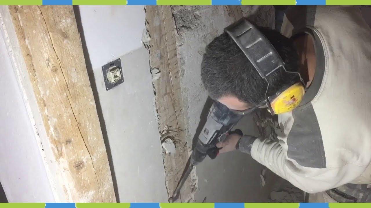 putz mit bohrhammer ⚒ entfernen fachwerk - youtube