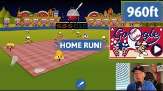 Google Doodle's Best Game Yet!   4th Of July Baseball!   Benny Plays