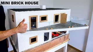BRICKLAYING - FOUNDATION - PLASTERING --- MINIATURE MODEL BRICK HOUSE