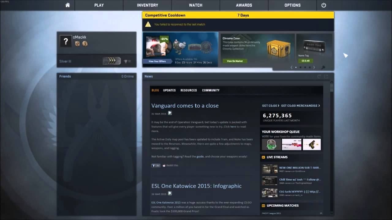 best resolving matchmaking state for your account csgo temporary cooldown
